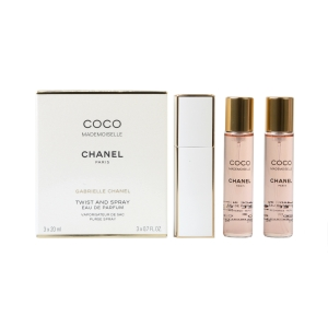 Coco Mademoiselle Twist & Spray Atomiser + 3 refils (3 x 20ml EDP)  for Women by <b>Chanel</b>