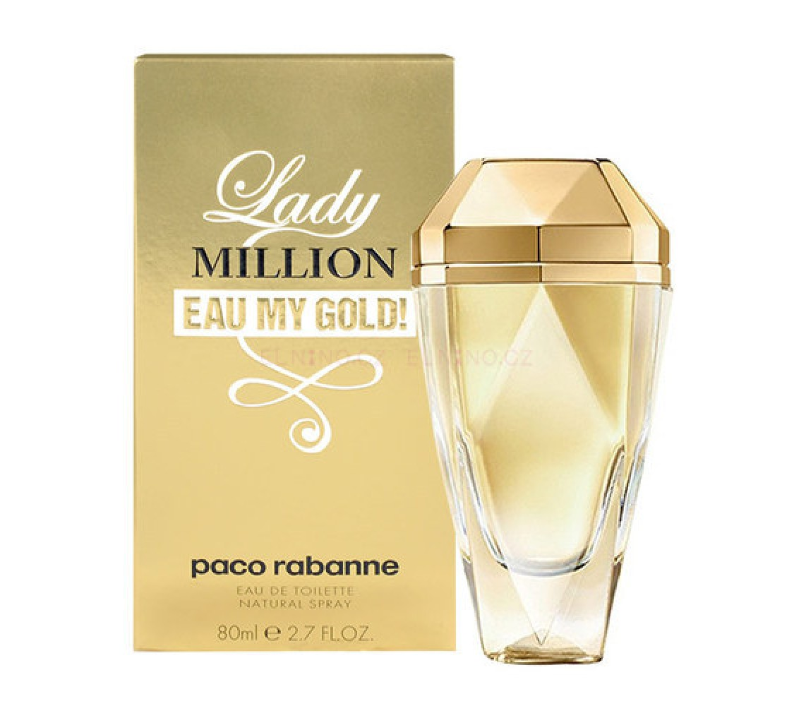 Lady Million Eau My Gold for Women 80ml Eau De Toilette (EDT) by Paco Rabanne