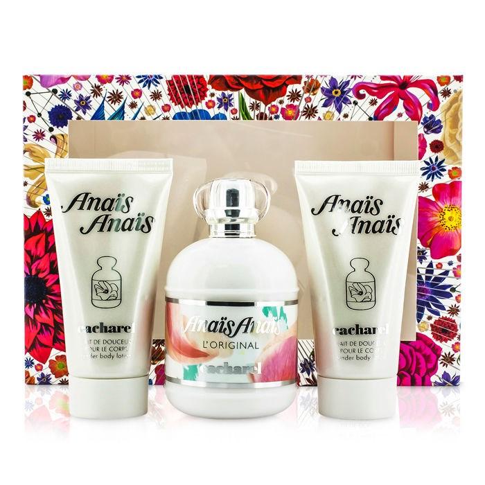 Anais Anais L'Original 100ml EDT Spray + 2 x 50ml Body Lotion for Women by <b>Cacharel</b>