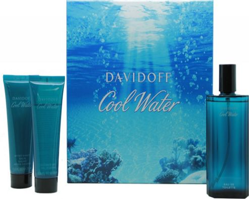Cool Water Set for Men 125ml (3pc) Set Eau De Toilette (EDT) by Davidoff