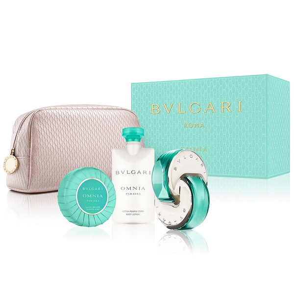 Omnia Paraiba Set for Women 65ml (4pc) Set Eau de Cologne (EDC) by Bvlgari