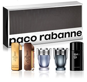 1 million +1 Million Prive + Invictus + Invictus Intense + Black XS for Men <b>5ml Collection Set</b> by <b>Paco Rabanne</b>