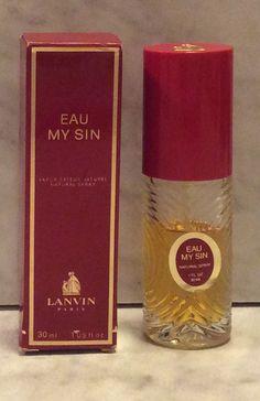Lanvin Eau My Sin (Original, Rare  1924)