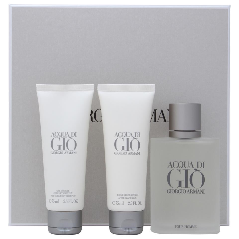 Acqua Di Gio 100ml EDT + 75ml Shampoo + 75ml Aftershave for Men <b>3-Piece</b> (Gift Set) by <b>Giorgio Armani</b>