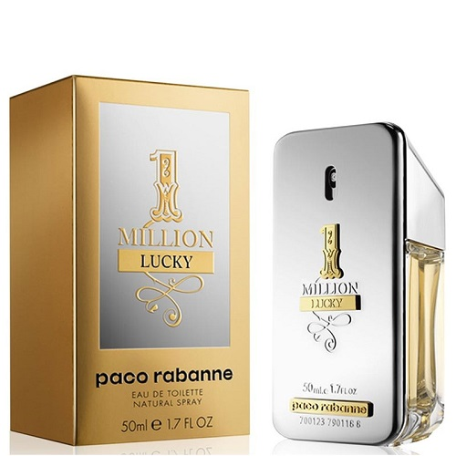 One Million Lucky for Men 50ml Eau de Toilette (EDT) by Paco Rabanne