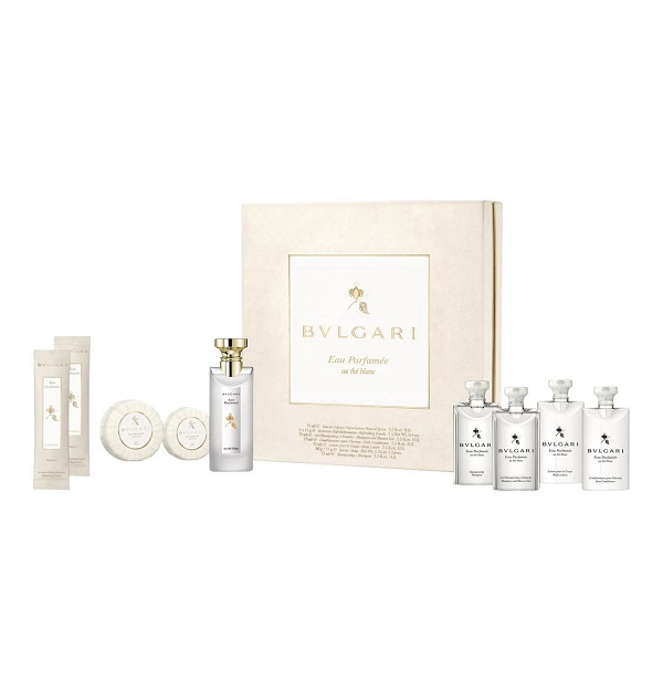 Eau Parfumee Au The Blanc for Women 75ml (9pc) Set Eau de Cologne (EDC) by Bvlgari