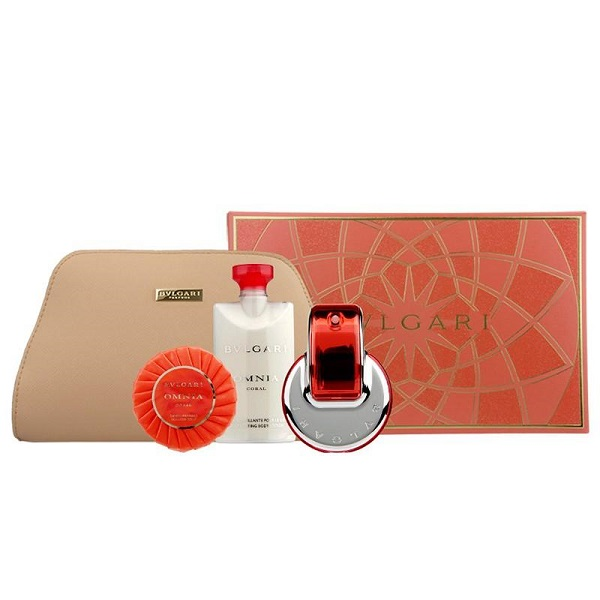 Omnia Coral for Women 65ml (4pc) Set Eau de Toilette (EDT) by Bvlgari