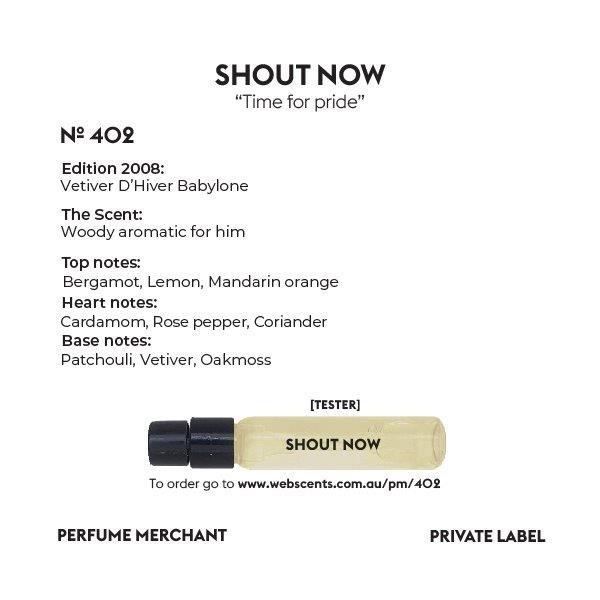 402 Tribute - Vetiver Babylone D'Hiver for Men 4ml (Tester) Eau de Parfum (EDP) by Perfume Merchant