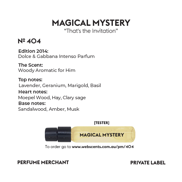404 Tribute - Dolce Intenso  for Men 4ml (Tester) (EDP) by Perfume Merchant