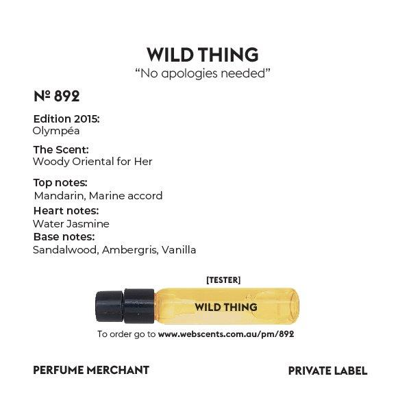 892 Tribute - Olympéa (2015) for Women 4ml Tester Eau de Parfum by Perfume Merchant