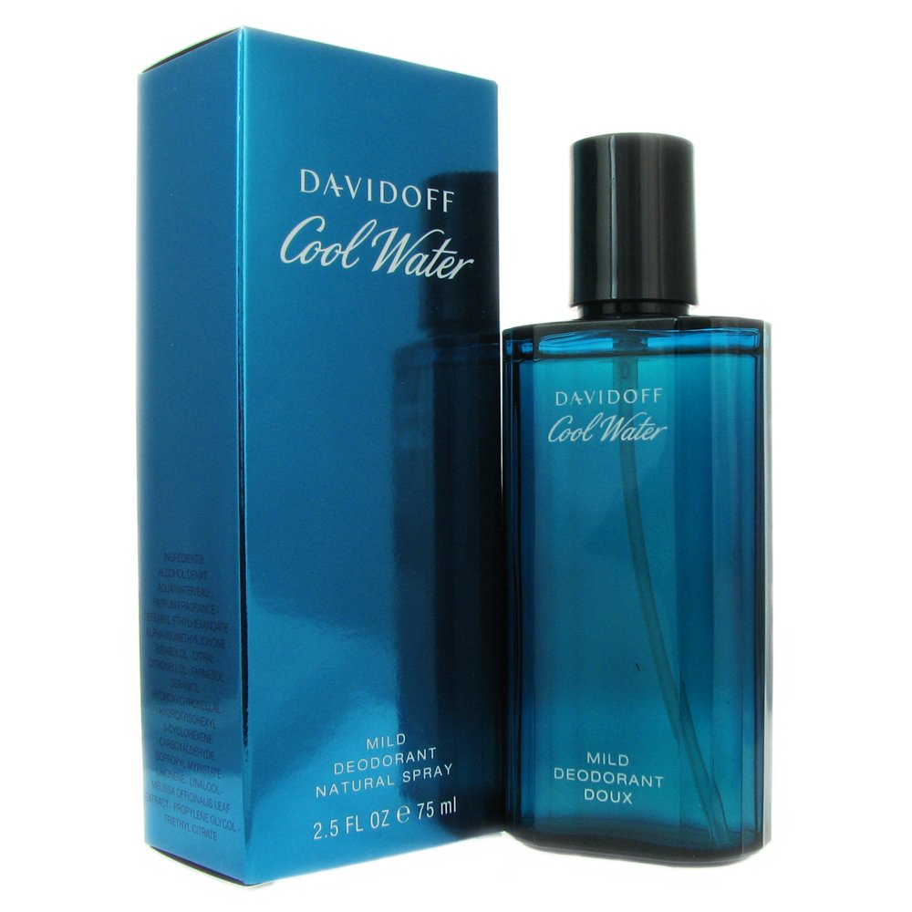 Cool Water Mild Deoderant Spray  for Men 75ml Eau De Cologne (EDC) by Davidoff